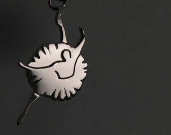 Silver Dancer Pendant, with necklace - Hand Made - DANCE - No Nickel