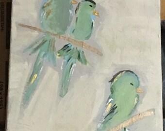 bird acrylic painting
