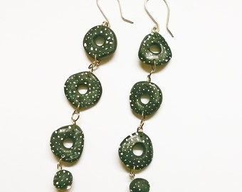 New: Dancing circles, polymer clay and wire of Silver 925