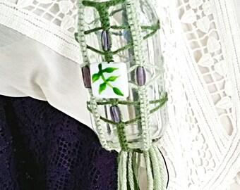 Violet, Mint, and Emerald Trinket Jar