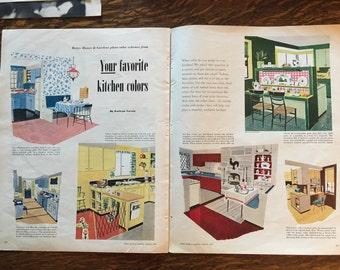 Kitchen Decor tips from  1952 Better Homes & Gardens magazine