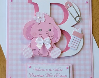 Personalised Welcome to the World - New Baby Girl