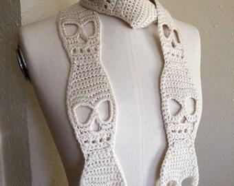 Crochet Skull Scarf Pattern Tutorial Halloween