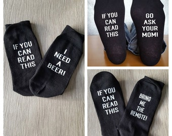 Personalised Socks, Novelty Socks, Gift for Him. Gift for Her, Funny Socks, If you can read this, Hidden message, Birthday Gift, Christmas