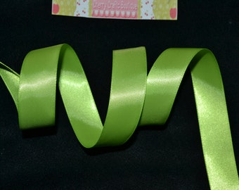 10 YARDS!!!!, 7/8 double sided satin ribbon, APPLE GREEN, ribbon, satin, satin ribbon, diy crafts, diy