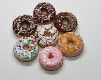 Doughnut charms, bracelet, necklace, planner charm