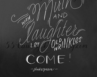 PRINTABLE With Mirth & Laughter Chalkboard Sign