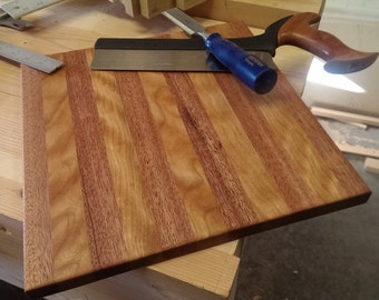 African Mahogany and Cherry Cutting Board