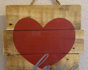 Love with Heart - Wall hanging, sign