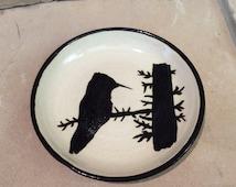 Porcelain Hummingbird Plate