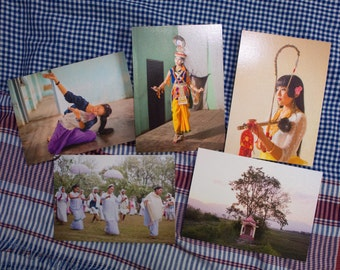 "5 limited edition - 5x7"" gift cards on Pearl Metallic heavy stock paper. Set 2 - from the book Dance Music Ritual in Manipur"
