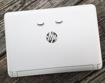 Decal {Sleeping eyes}-Laptop Decal/Laptop Sticker/Phone decal/Phone sticker/Car Sticker/Car Decal/Window Decal/Window Sticker