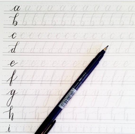 Brush Lettering Practice Sheets For Small Brush Pens Hand