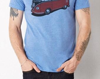 VW Bus: Adult's Unisex Soft Blend T-Shirt