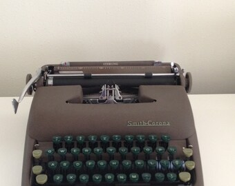 Smith-Corona RARE Sterling Great Primer Typewriter in Great Condition Sterling Typewriter