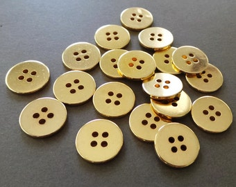 Gold Plated Vintage Buttons Embellishment Craft Supply 2dz