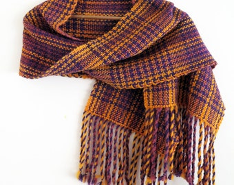 Purple and Orange houndstooth plaid