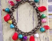Skulls & Hearts Day of the Dead Charm Bracelet