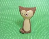 Brown Tabby Cat Figurine - Collectible Miniature Resin Figure