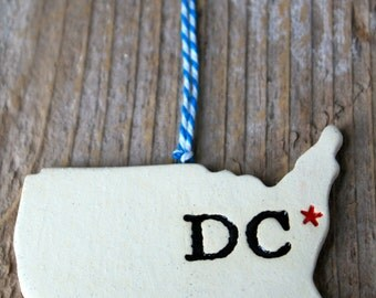 Washington DC Pottery Ornament
