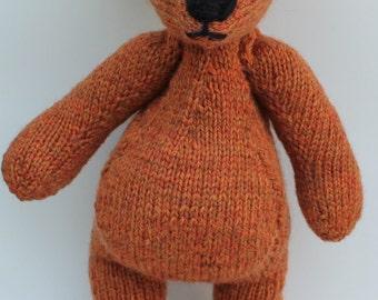 Handspun Teddy Bear PDF Knitting Pattern