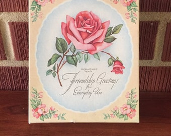 Vintage Assortment of Floral Unused Greeting Cards for All Occasions