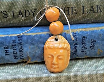 Ceramic Buddha Quan Yin Bead Bundle Mandarin Orange