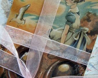 PostCard - Best friends - Steampunk - Victorian Illustration - Art Card - Greeting Card