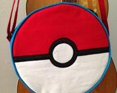 Pokemon Ball bag with adjustable strap, crossbody, backpack option
