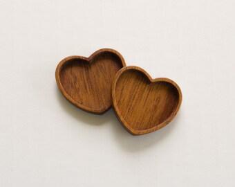 Tray settings fine finished hardwood artisanal quality - Mahogany - 33 mm - (H91-M) - Set of 2