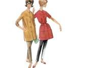 60s uncut Cigarette Pants and Mini Dress vintage pattern 35-27-37 half size Tunic Audrey Hepburn