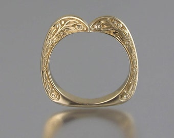 COUNTESS 14K yellow gold wedding band (sizes 7 to 9.5)
