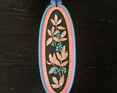 Floral 2 - hand painted found object wall art