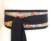 Obi belt 'Japanese beautiful blue' by loobyloucrafts