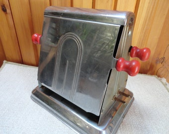RESERVED Toaster Double Sided Shiny Metal from the 1940s