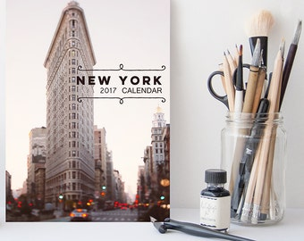 2017 Desk Calendar, New York Calendar, 2017 Calendar, NYC Photography, Gifts Under 25, Stocking Stuffer, 5x7, Coworker Gift