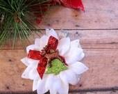 Tiny Reindeer Christmas Hair Clip, Holiday Pinup Hair Clip, Christmas Hair Clip