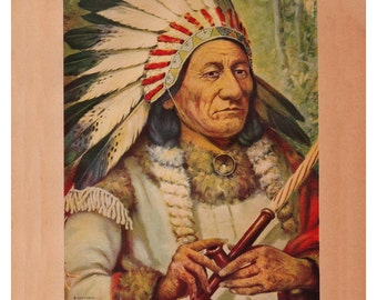 Sitting Bull print, chief of Dakota Sioux Indians, printable digital download no.  282
