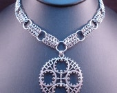 Gear - Steampunk Chain Maille Necklace - European 4 in 1 - Classic - Unisex - Long