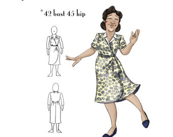 NVL The perfect 40s Wrap Dress 42 Bust in PDF 1568