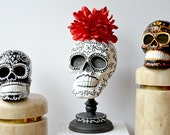 Sugar Skull Day of the Dead Classic Skull and Base Handpainted