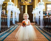 Full Length Flower Girl Tutu Dress
