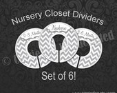 Assembled Gray Chevron Nursery Closet Dividers, Grey Baby Closet Dividers, Baby Clothes Organizers, Baby Shower Gift, Gender Neutral Baby