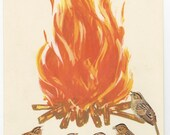 Campfire birds - original collage by Vivienne Strauss.