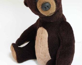 Herman - large handmade ooak collectible mohair teddy bear, by BigFeetBears