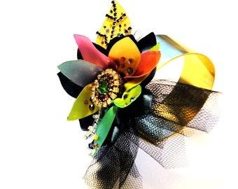 "The ""Autumn"" Floral Barock Collection, fantasy cuff, multicolor"