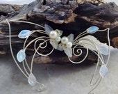 Frost White Aurora Elf Ear Cuff Wrap Pair or Single, Bridal Ear Cuff