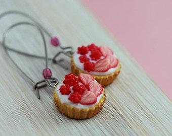Raspberry and Strawberry Tart Earrings