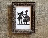 Vintage Silhouette - Couple - Cut Paper