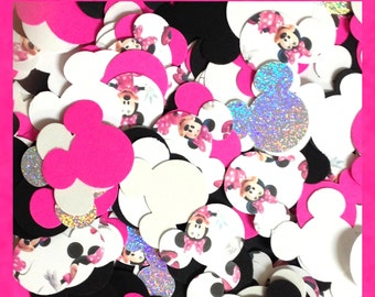 500 Disney Minnie Mouse Confetti Card Stock Punches Cardstock Punch Party Sprinkles